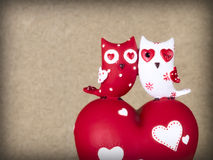 Two ceramic owls Stock Images