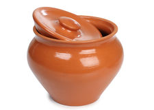 Two ceramic pot Royalty Free Stock Images