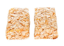 Two Cereal Bars. Two vertical cereal bars. Isolated on white Stock Photos