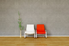 Two chair with Plant Royalty Free Stock Photos