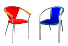 Two chairs royalty free illustration