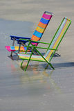 Two Chairs. Beach Chairs on floridas Gulf Coast stock photo
