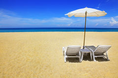 Free Two Chairs And Umbrella Royalty Free Stock Image - 10704476