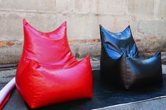 Two chairs bag of red and black Royalty Free Stock Image