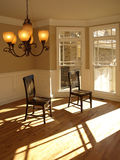 Two chairs in Bay Window Royalty Free Stock Images