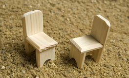 two chairs on the beach Stock Image