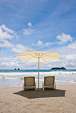 Two Chairs at the Beach Royalty Free Stock Images