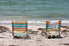 Two Chairs at the beach Royalty Free Stock Photo