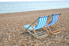 Two chairs on the beach Royalty Free Stock Image