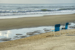 Two Chairs on Beach Royalty Free Stock Photo