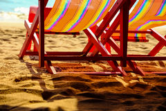 Two chairs on a beach Royalty Free Stock Photo