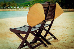 Two chairs on the beach Stock Photography