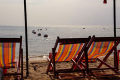 Two chairs on a beach Royalty Free Stock Image