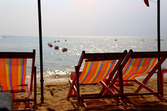 Two chairs on a beach Stock Photography