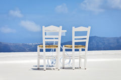 Two chairs in the sun Stock Image