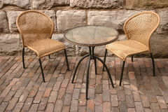 Two chairs and table. Two chair and one table Royalty Free Stock Photos