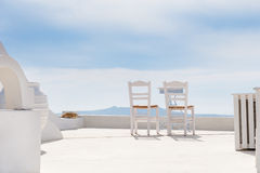 Two chairs on the terrace Royalty Free Stock Photos