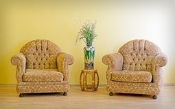 Two chairs and vase Royalty Free Stock Photography