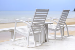 Two Chairs waiting to be occupied of you in your next vacation Royalty Free Stock Photos