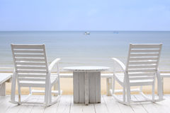 Two Chairs waiting to be occupied of you in your next vacation Royalty Free Stock Images