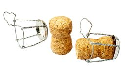 Two champagne corks closeup Stock Photos