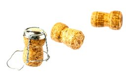 Two champagne corks closeup Royalty Free Stock Photo