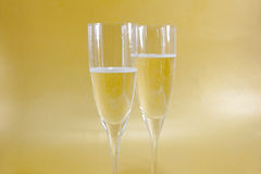 Two champagne flute Royalty Free Stock Photography