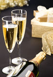 Two champagne flutes Royalty Free Stock Images