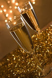 Two champagne flutes. Stock Image