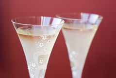 Two champagne glaases Royalty Free Stock Photos