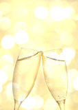 Two champagne glass Royalty Free Stock Images