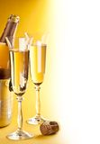 Two champagne glass Royalty Free Stock Image