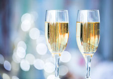 Two champagne glass Stock Photography