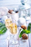 Two Champagne Glass Stock Image