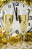 Two Champagne glasses. Stock Photos