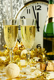 Two Champagne glasses. Stock Photo