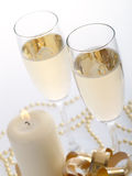 Two Champagne Glasses Stock Photography