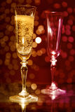 Two champagne glasses royalty free stock photos
