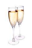 Two champagne glasses. Isolated on white Stock Image