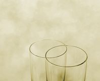 Two Champagne glasses as wedding symbol Stock Photography