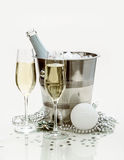Two champagne glasses, cooler Royalty Free Stock Photo