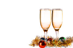 Two champagne glasses Royalty Free Stock Images