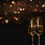 Two Champagne glasses for festive occasions Royalty Free Stock Photography