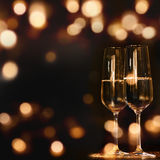 Two Champagne glasses for festive occasions Stock Photos