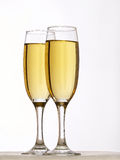 Two Champagne Glasses In Toast Royalty Free Stock Photo