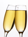 Two Champagne Glasses In Toast Stock Images