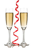 Two champagne glasses Stock Image