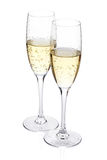 Two champagne glasses Stock Photos