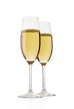 Two champagne glasses. Royalty Free Stock Photo