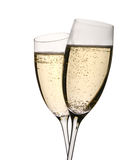 Two champagne glasses in toast Royalty Free Stock Images